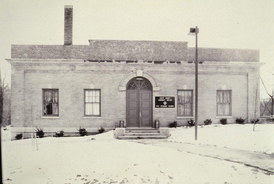 Exterior shot of original Kennedy Shelter