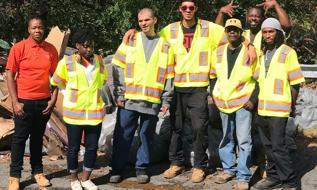 Litter program team on 1st day