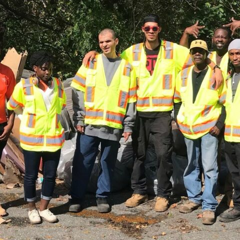 Litter program team on 1st day