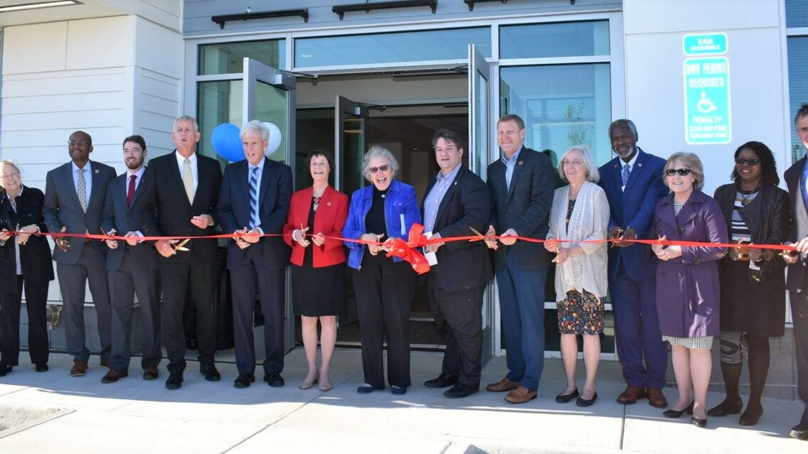Ribbon-cutting at Bailey's Shelter and Housing