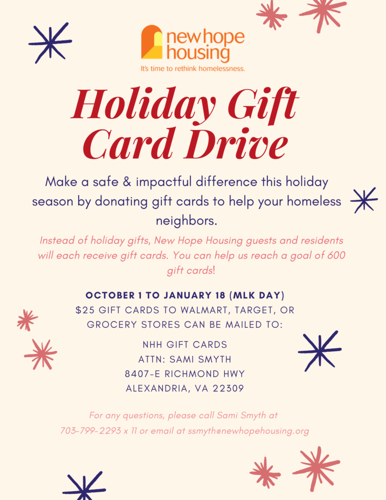 How to host a gift card drive.